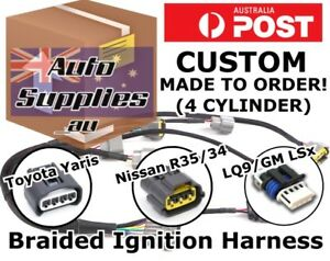 image is loading custom-ignition-coil-harness-wiring-loom-diy-r35-