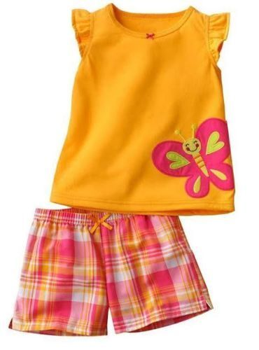 2 4 New Cute Girls 2 Piece Summer Set Size 18M