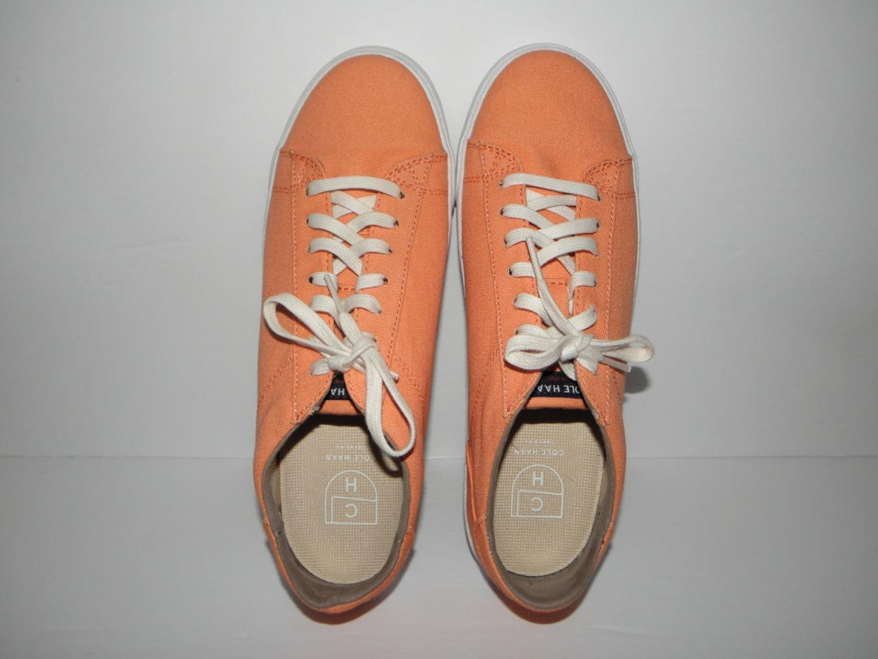 COLE HAAN orange Melon Canvas Womens shoes Sneakers size 9-1 2 Medium (NEW )