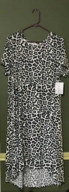 NWT  LuLaRoe CARLY  XL  SNOW SNOW SNOW LEOPARD CHEETAH Print  MAJOR UNICORN 45763b