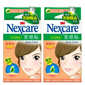 3M-NEXCARE-Acne-Dressing-Pimple-Patch-Stickers-TEA-TREE-OIL-68-Patches-NEW