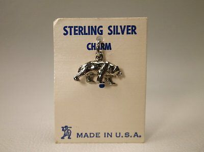 NWT Vintage!! Sterling Silver Bear Charm Free Shipping!