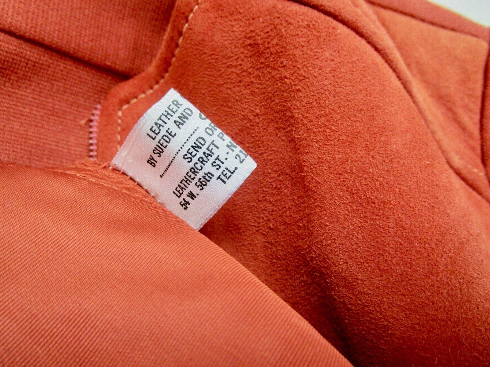 Vintage 70s Mod Orange PSI Leather Process Suede … - image 6