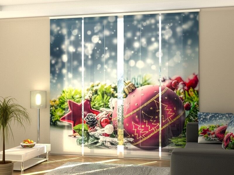 Fotogardinen Weihnachten, Weihnachtskugel, Maßanfertigung | Erste Gruppe von Kunden  Kunden  Kunden  071187