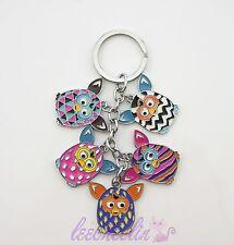 Furby Boom Figure Key Chain Metal Keyring Charm Adorable Gift Hot