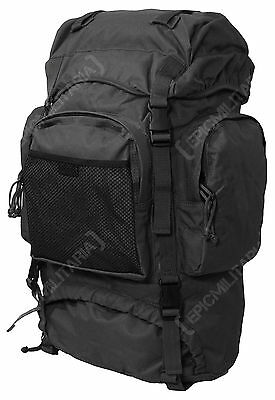 NEW Black 55L COMMANDO RUCKSACK Army Military Style Camping Hiking Backpack Bag
