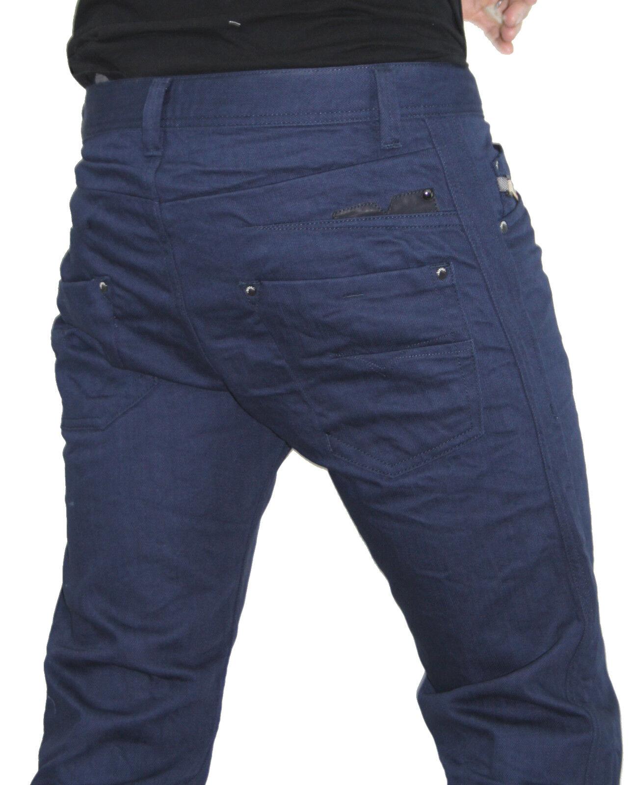 NWT DIESEL Fashion Men Slim Tapered Leg Darron 8QU Midnight bluee Pants Jeans