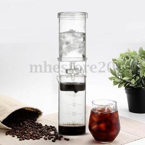 Portable Glass Coffee Maker : Home Travel Cold Brew Water Ice Drip Dutch Coffee Maker Portable Glass Machine eBay
