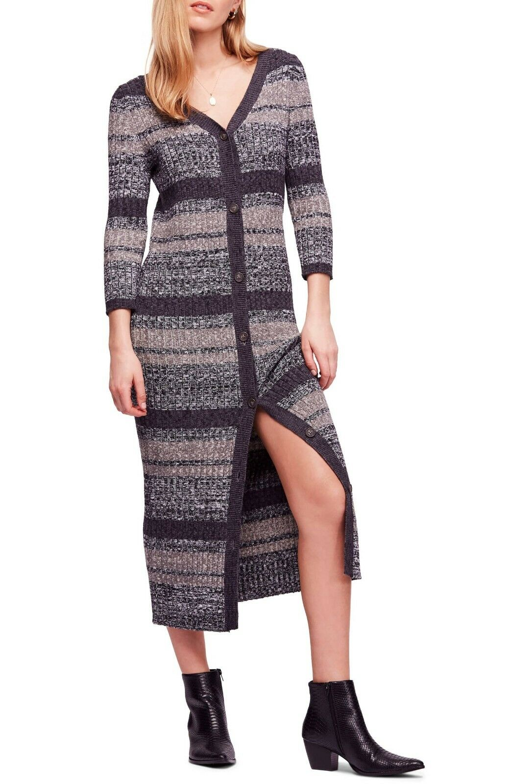Free People Cozy Up Cardigan Midi Dress MSRP MSRP MSRP  168.00 a3a0b6