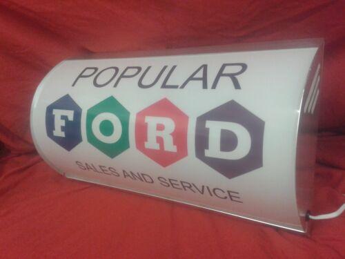 Ford,popular,pop,100e,hotrod sidevalve,garage,lightup,sign,mancave,vintage style