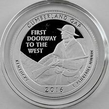 2016-S Cumberland Gap SILVER Proof Quarter in Crystal Clear Coin Capsule