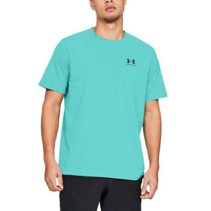 Responsable Under Armour Homme Charged Cotton Poitrine Gauche Blocage Formation Gym Fitness T Shirt-afficher Le Titre D'origine