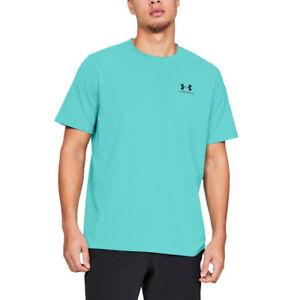Responsable Under Armour Homme Charged Cotton Poitrine Gauche Blocage Formation Gym Fitness T Shirt-afficher Le Titre D'origine