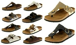 Womens-Dunlop-Faux-Leather-Slip-On-Strappy-Summer-Sandals-UK-Size-3-4-5-6-7-8