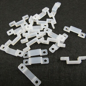 New-20X-Good-Clear-Silicon-LED-Clips-12mm-For-Fixed-5050-5630-Strip-Light-OYY