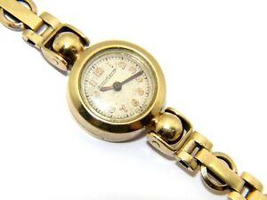 c103826d738 Rare Vintage Ladies 9ct 9carat Yellow Gold Jaeger-LeCoultre Back ...