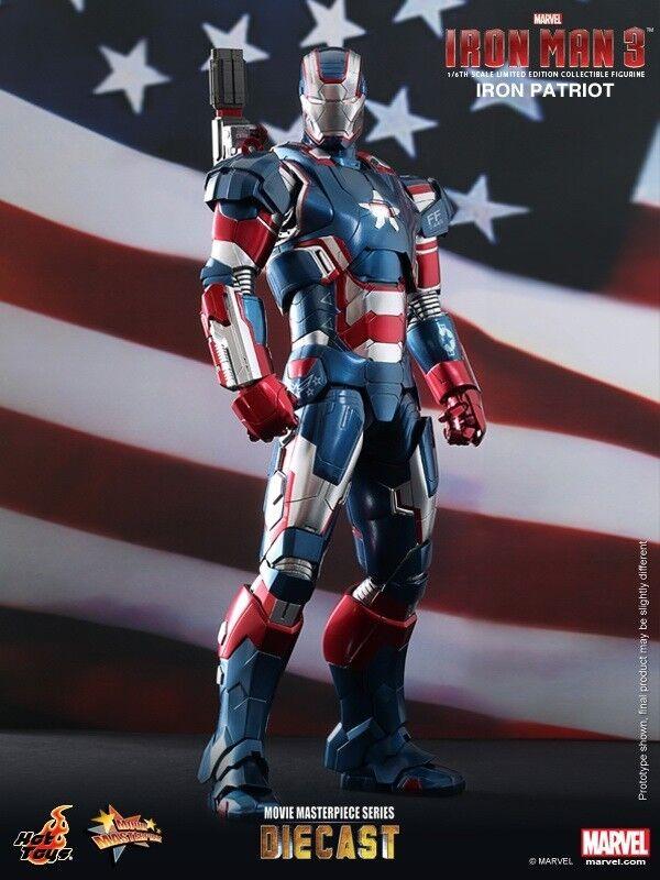 HOT TOYS Diecast Iron Man 3 Iron Patriot Don Cheadle 1/6 Figure MMS195 D1