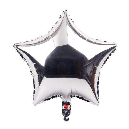 "18 /"" 5 Stück kräftige Farbe Stern FOLIEN BALLON PARTY Helium"