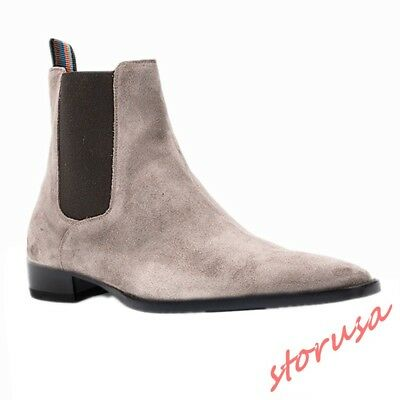best supplier best service info for Men REAL SUEDE LEATHER pull on chelsea bOOTS high top ankle boots ...
