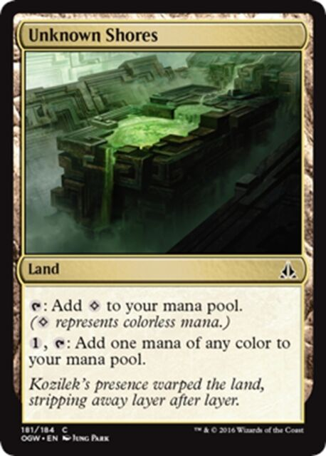 MTG Magic - (C) Oath of the Gatewatch - 4x Unknown Shores x4 - NM/M