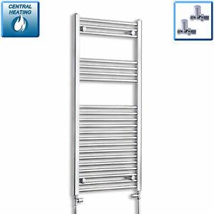 1100-x-600mm-Designer-Chrome-Heated-Towel-Rail-Radiator-Central-Heating-Bathroom