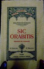 """LIBRO PREGHIERE DEL SACERDOTE """" SIC ORABITIS """" DI MONS. PASQUALE MORGANTI 1917"""