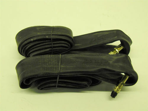 "PAIR 20x1 3//8/""INNER TUBES ENGLISH WOODS VALVES SUIT VINTAGE FOLDING BIKE//RALEIGH"