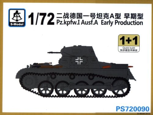 2 Tanks Early Production S-Model 1//72 720090 WWII German Pz.kpfw.I Ausf.A