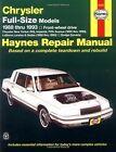 Chrysler Full-size Models (1988-1993) Automotive Repair Manual by J. H. Haynes, Larry Warren (Paperback, 1995)