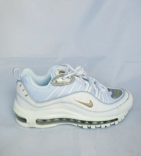 "Nike Air Max 98 White Metallic Gold ""Blue Chill"" W"