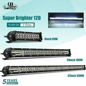 12D-8-034-20-034-32-034-Barre-LED-Light-Bar-phare-de-Spot-Flood-4x4-pour-ATV-SUV-Offroad
