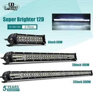 "12D 8 ""20"" 32"" Barre LED Light Bar phare de Spot Flood 4x4 pour ATV SUV Offroad"