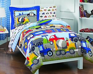 Bedding Sets Twin For Boys Kids Trucks Tractors Cars Toddler
