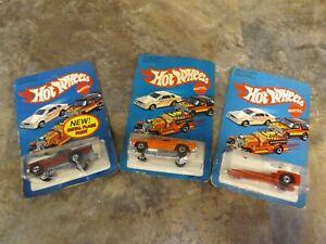 Hot-Wheels-1982-Dixie-Challenger-3364-1982-Tricar-X8-1130-1981-T-Bird-2013