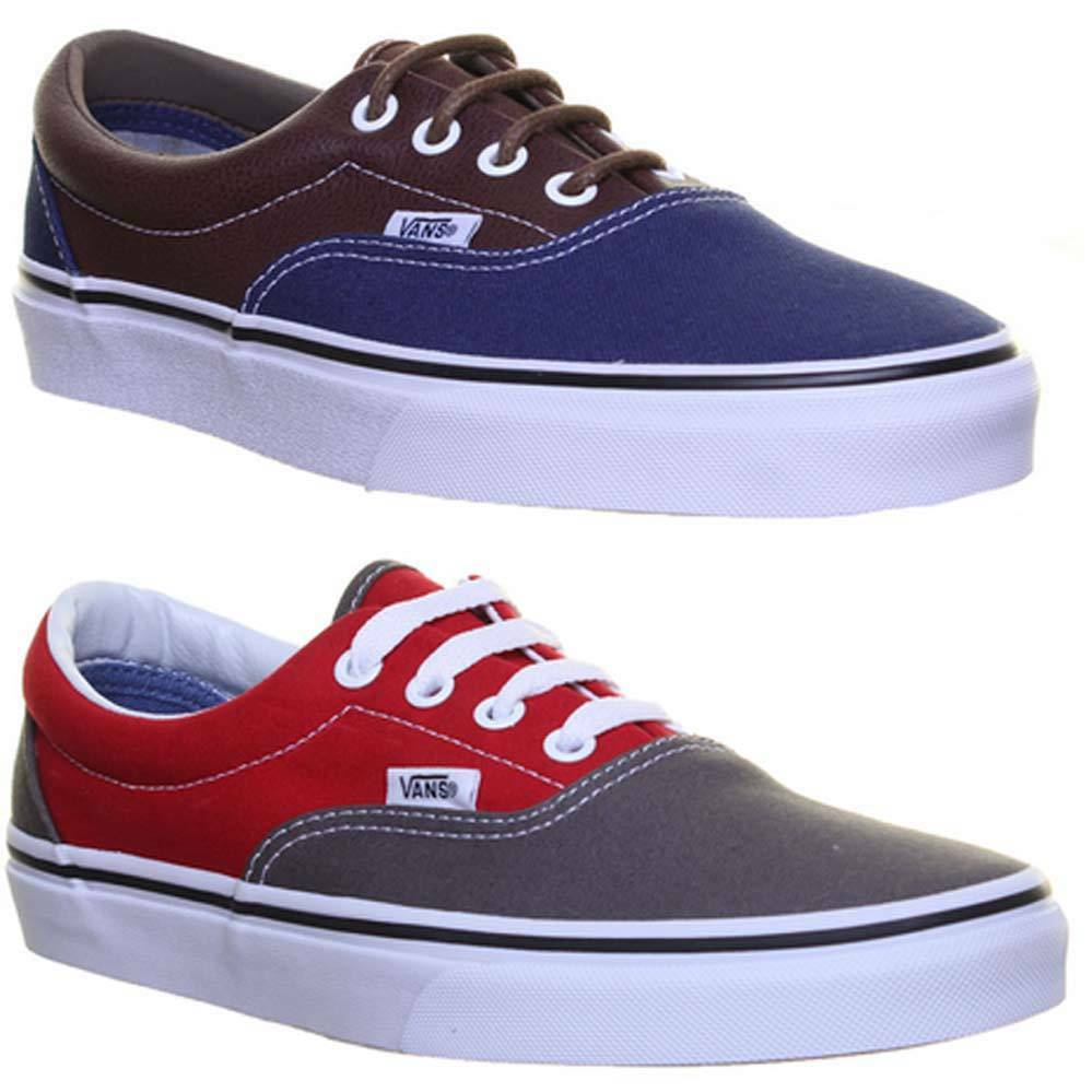 Vans Era 2 Tone   Herren Leder Lace Up Trainers Trainers Up Uk Größe 6d3463