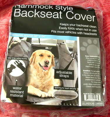 Backseat Cover Hammock Style Dogs Water-Resistant Washable Size 56 in x 54 in