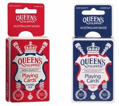 QUEEN/'S Slipper 52/'s Playing Cards Bridge Size Casino Quality 12 Decks Red Blue