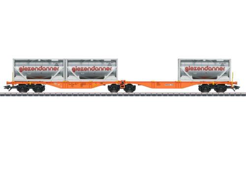 """OVP Märklin H0 47805 Doppel-Containertragwagen Sggrss /""""giezendanner/"""" NEU"""