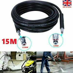 15M Replacement High Pressure Washer Hose Heavy Duty Karcher Jet Power Wash Pipe