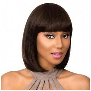 Wigs BOB Straight Hair 100% Brazilian Remy Virgin 7A Human Hair Full Wig Women