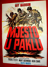 A PLACE IN HELL 1969 ITALIAN GUY MADISON TESTI CHANEL WW2 RARE EXYU MOVIE POSTER