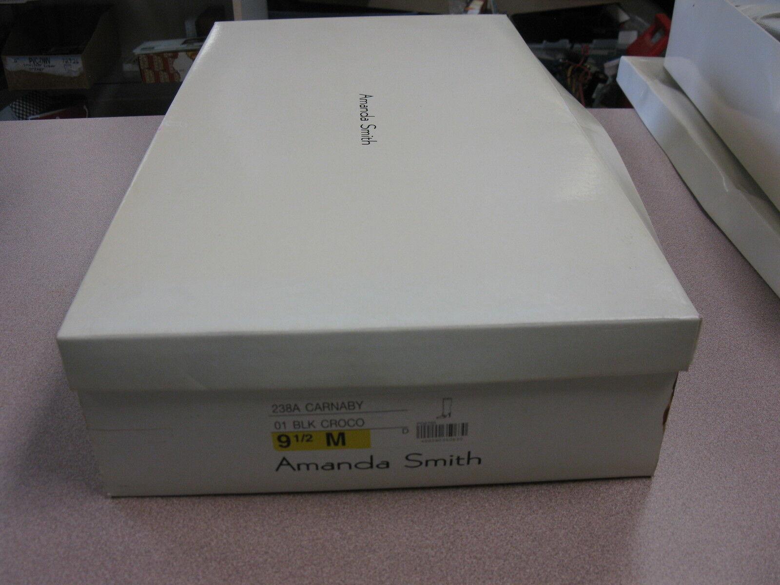 Amanda Smith schwarz croc heel. Stiefel. Größe 9.5. high heel. croc side zip. 43450e