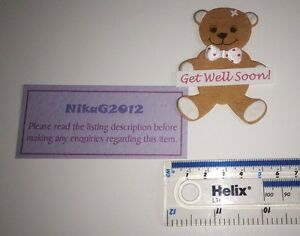 5-Die-Cut-Get-Well-Soon-Banner-Teddy-Bears-Card-Making-Adults-Children-7cm-High