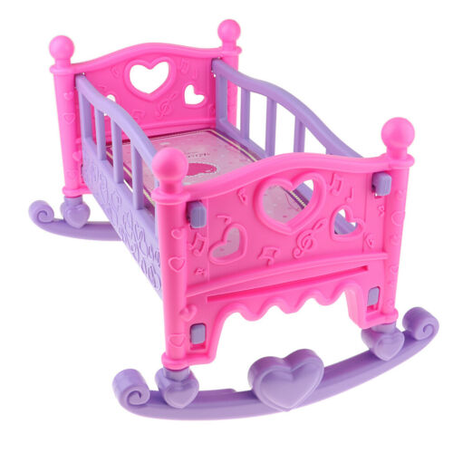Rocking Cradle Crib Bed Baby Bedroom Furniture Accessory for Mellchan Dolls
