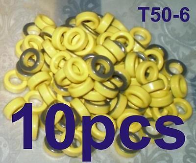 T50-6 MICROMETALS TOROID  /10 MHz-50 MHz/ -10pcs