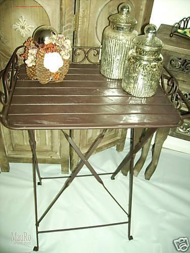 Tablett-Tisch - braun braun braun antiklook -shabby - Landhaus 8a7361
