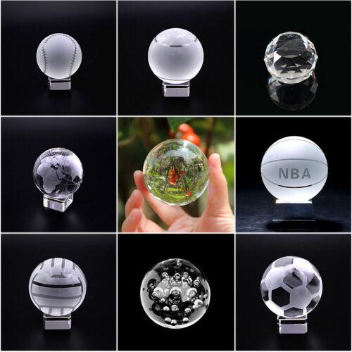 50mm-100mm Quartz Crystal Sphere Boule presse-papier verre Artisanat Pierre figurines