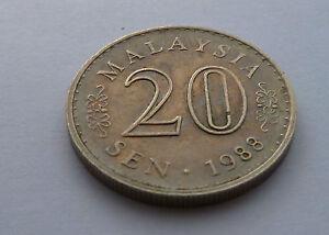Bien Informé 1988 Malaysia 20 Sen Coin-afficher Le Titre D'origine