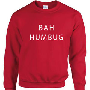 Bah-Humbug-Natale-Maglione-Uomo-Divertente-Natale-Scherzo-Felpa-Regalo