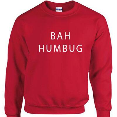 Natale Felpa Divertente Natale Maglione Pullover Regalo Unisex Bah Humbug